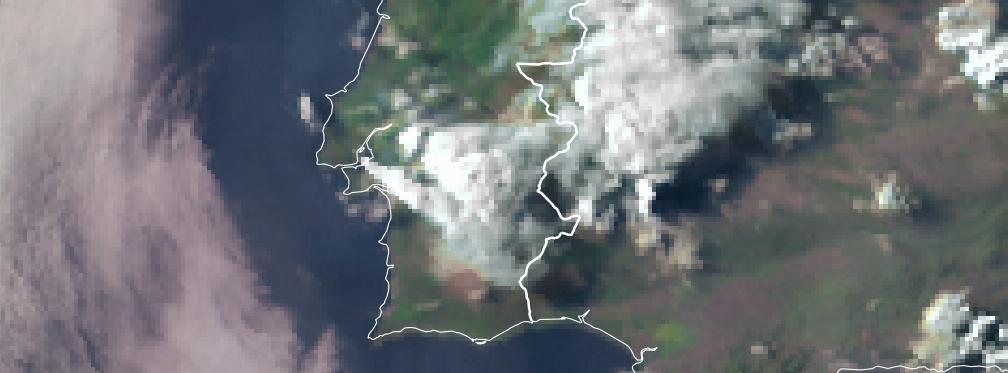 Tempestade violenta atinge a cidade de Évora