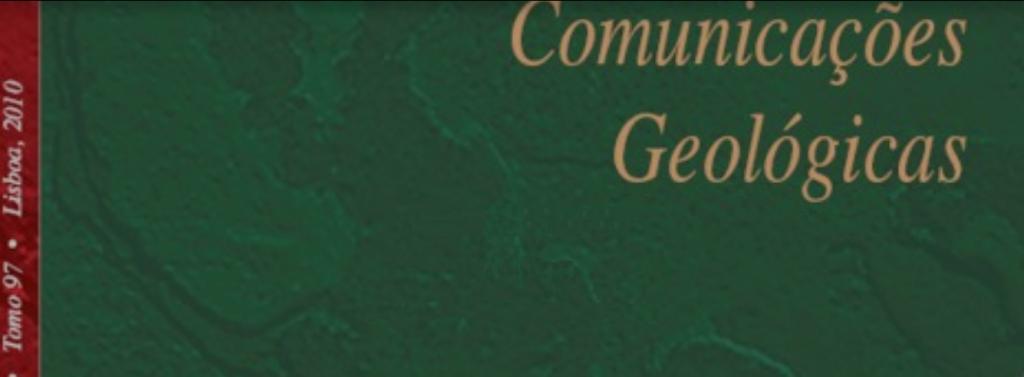Comunicações Geológicas - Laboratório Nacional de Energia e Geologia. XII Congresso Ibérico de Geoquímica e XX Semana de Geoquímica