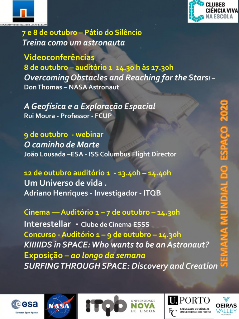 Semana Mundial do Espaço - 4 a 10 de Outubro
