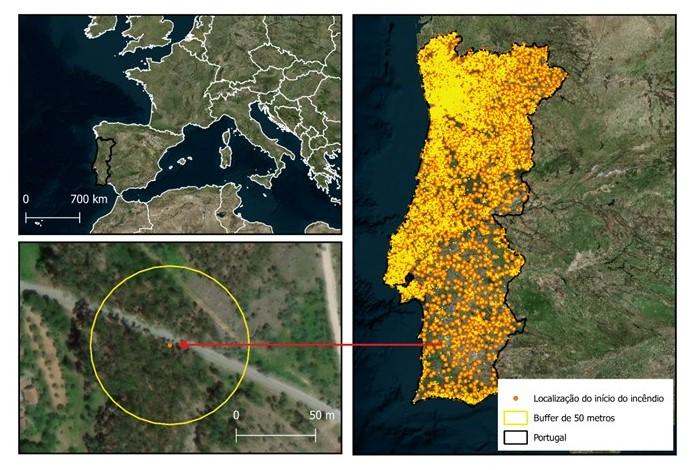 Investigadores dos centros ICT e MED da Universidade de Évora desenvolvem abordagem com recurso a dados de satélite para prever o potencial de pequenos focos de incêndio gerarem grandes incêndios.