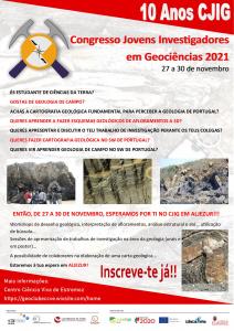 XI Congresso Jovens Investigadores em Geociências, 27 a 30 de novembro de 2021
